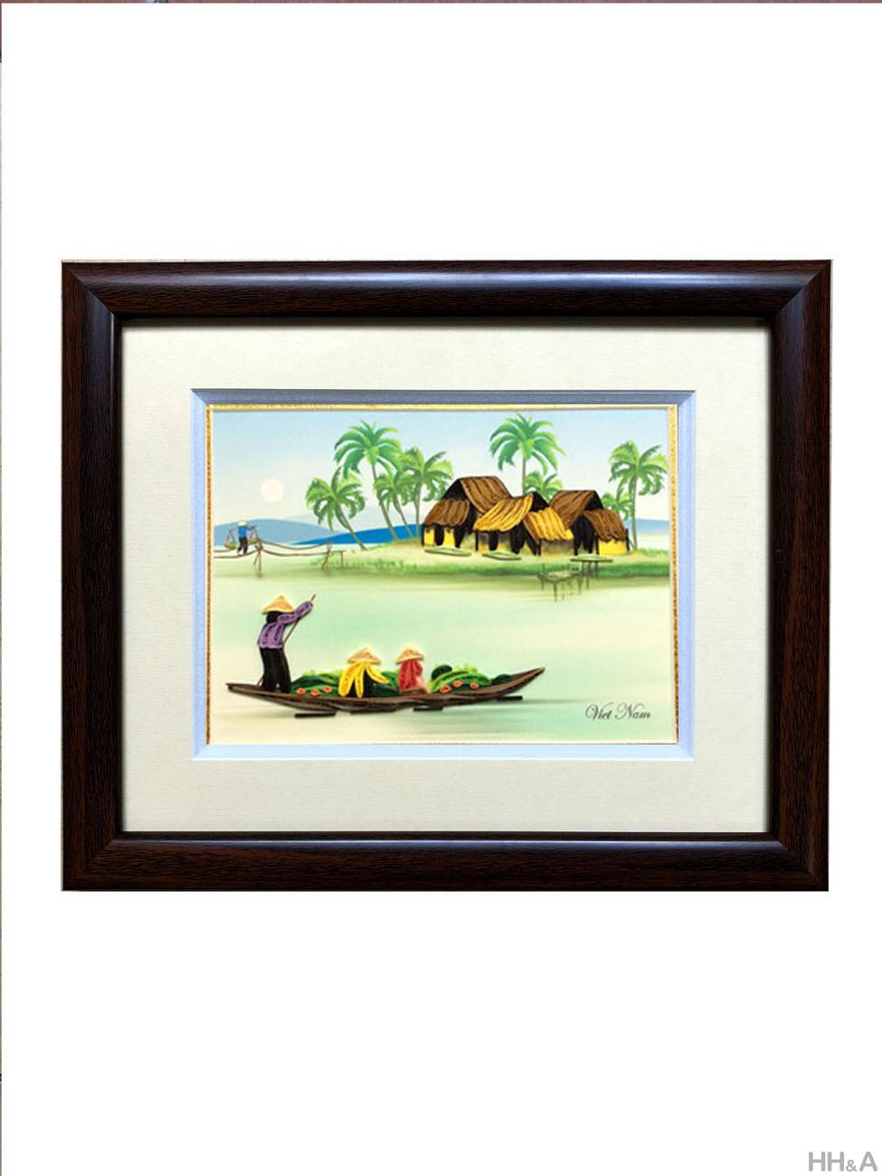 tranh giấy cảnh sông nước 3